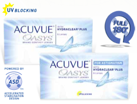 Acuvue Oasys for Astigmatism lenses
